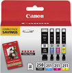 Canon - 250/251 4-Pack High-Yield Ink Cartridges - Black/Cyan/Magenta/Yellow