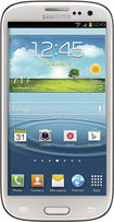 Samsung - Galaxy S III 4G with 16GB Memory Mobile Phone - Marble White