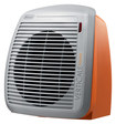 Delonghi - Safeheat Fan Heater - Gray/orange