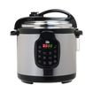 Elite - Platinum 6-quart Pressure Cooker - Black/silver