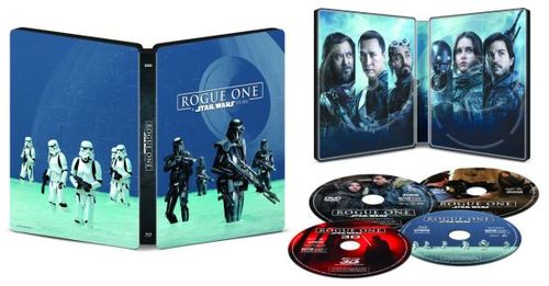 Rogue One: A Star Wars Story - SteelBook [Digital Copy] [3D] [Blu-ray/DVD] [Only @ Best Buy] [Blu-ray/Blu-ray 3D/DVD] [2016]