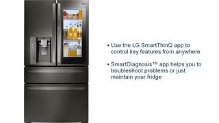 LG - 29 7 Cu  Ft  4-Door French InstaView Door-in-Door Smart Wi-Fi