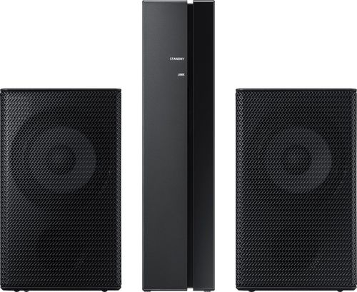 samsung home theater with wireless rear speakers. samsung - wireless rear loudspeakers works with select soundbars (pair) black home theater speakers