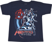 Marvel - Avengers: Age of Ultron Group Shot Children's T-Shirt (Large/Extra-Large) - Dark Blue