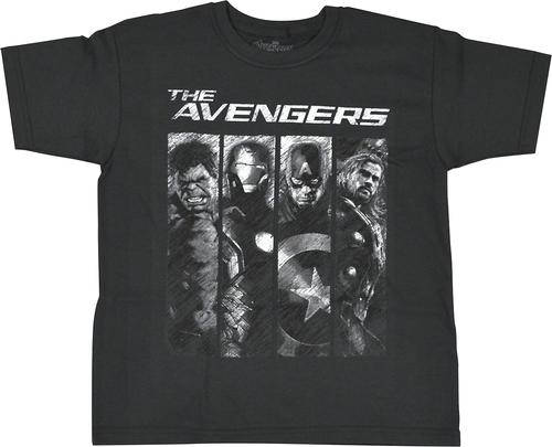 Marvel - The Avengers Children's T-Shirt (Small/Medium) - Gray