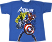Marvel - Avengers Group Shot Children's T-Shirt (Large/Extra-Large) - Turquoise
