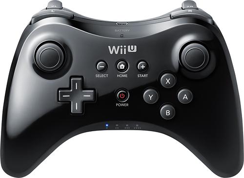 Nintendo - Pro Controller for Nintendo Wii U - Black