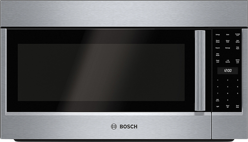 Bosch - 500 Series 2.1 Cu. Ft. Over-the-Range Microwave with Sensor Cooking - Stainless Steel (Silver)