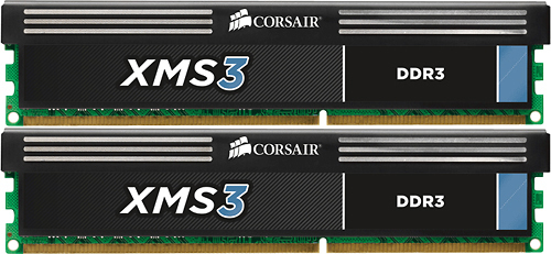Corsair - XMS3 2-Pack 8GB CL9 DDR3 Dimm Desktop Memory Kit - Multi