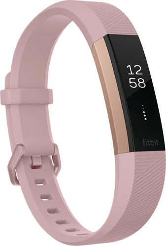 fitbit alta hr activity tracker heart rate small gold fb408rgpks