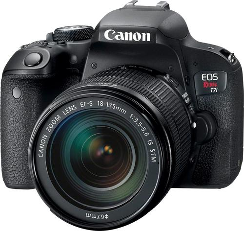 Canon EOS Rebel T7i DSLR Camera with 18-135mm IS STM Lens Black ...