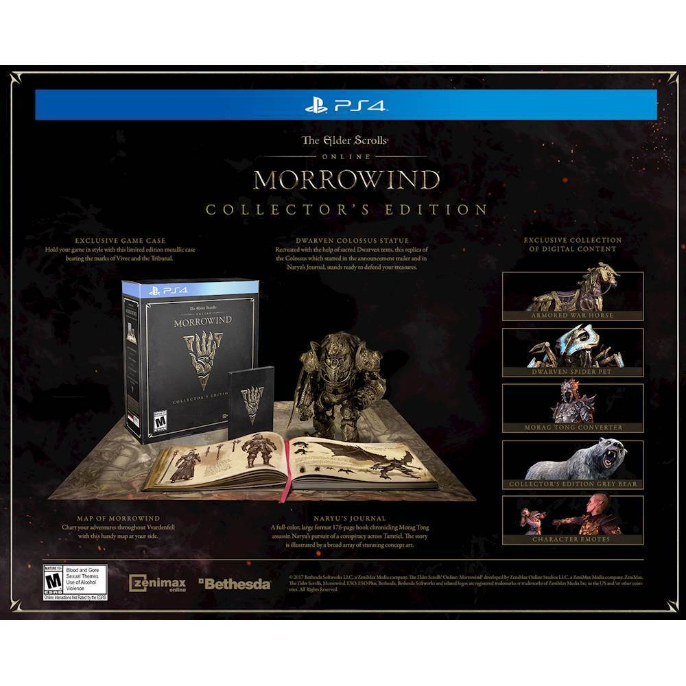 The Elder Scrolls Online: Morrowind Collector's Edition – PlayStation 4