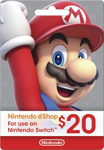 Nintendo $20 eShop Gift Card NINTENDO ESHOP $20 - Best Buy
