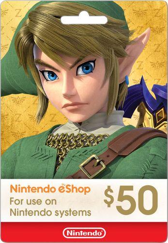 Nintendo $50 eShop Gift Card NINTENDO ESHOP $50 - Best Buy