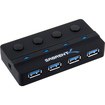 Sabrent - 4-port USB 3.0 HUB with Power Adapter