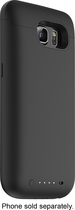 mophie - Juice Pack External Battery Case for Samsung Galaxy S6 Cell Phones - Black