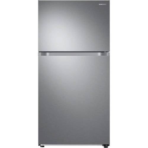 Ft. Top Freezer Refrigerator   Stainless Steel   Larger