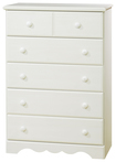 South Shore - Summer Breeze Collection 5-Drawer Chest - White
