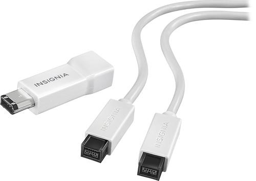 Insignia™ - 6' FireWire 800 Cable - White