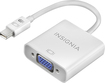 Insignia™ - Mini DisplayPort-to-VGA Adapter - White