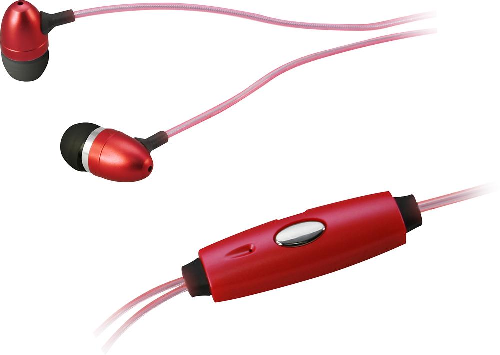 iLive - Glowing Earbud Headphones - Red