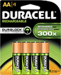 Duracell - Accu AA NiMH Rechargeable Batteries (4-Pack)