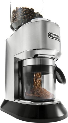 Delonghi Dedica 14 Cup Coffee Grinder Stainless Steel Angle