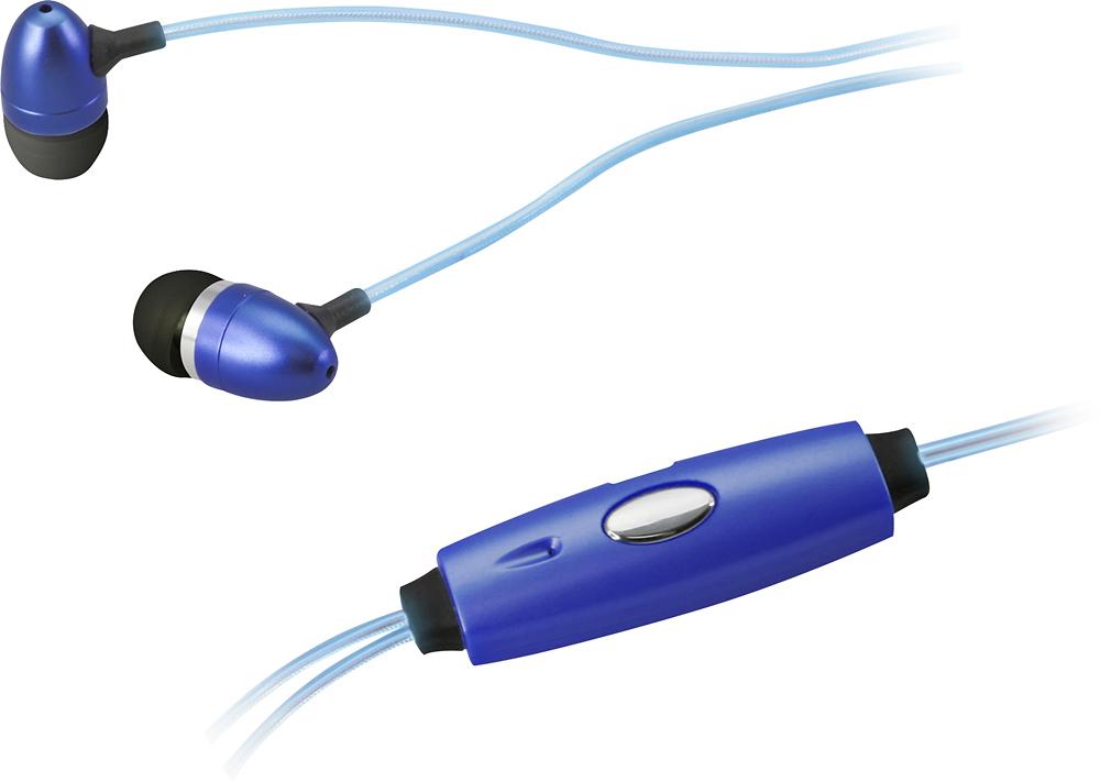 iLive - Glowing Earbud Headphones - Blue