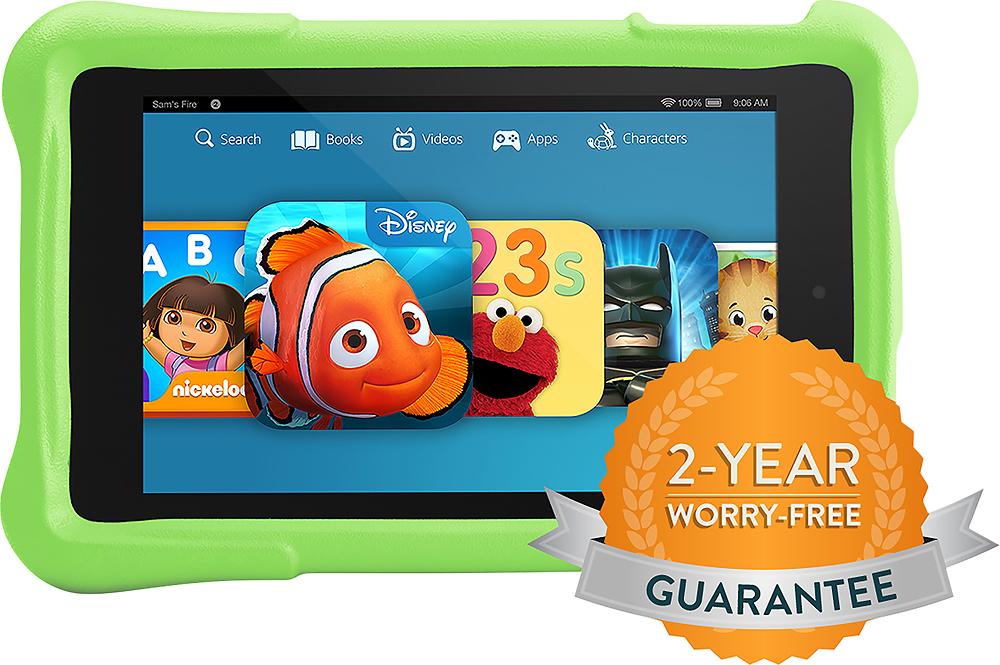 "Amazon - Fire HD Kids Edition - 6"" - 16GB - Green"