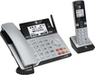 AT&T - TL86103 DECT 6.0 Expandable Corded Phone with Digital Answering System - Silver/Black