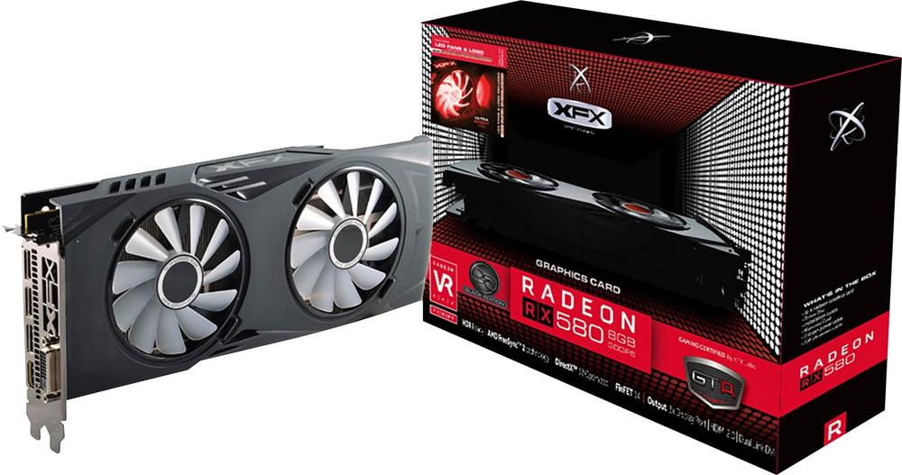 XFX - AMD Radeon RX 580 8GB GDDR5 PCI Express 3.0 Graphics Card - Black/crimson 1