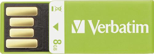 Verbatim - Clip-It 8GB USB 2.0 Flash Drive - Green