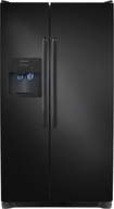 Frigidaire - 26.0 Cu. Ft. Side-by-Side Refrigerator with Thru-the-Door Ice and Water - Ebony Black