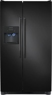 Frigidaire - 22.6 Cu. Ft. Side-by-Side Refrigerator with Thru-the-Door Ice and Water - Ebony Black