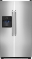 Frigidaire - 25.6 Cu. Ft. Side-by-Side Refrigerator with Thru-the-Door Ice and Water - Stainless-Steel