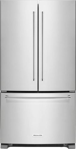 KitchenAid - 20.0 Cu. Ft. French Door Counter-Depth Refrigerator - Stainless Steel