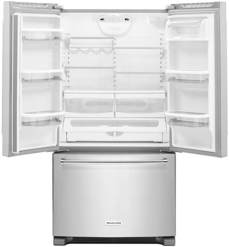 KitchenAid   20.0 Cu. Ft. French Door Counter Depth Refrigerator    Stainless Steel