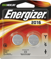 Energizer - 2016 3-Volt Lithium Battery (2-Pack) - Silver