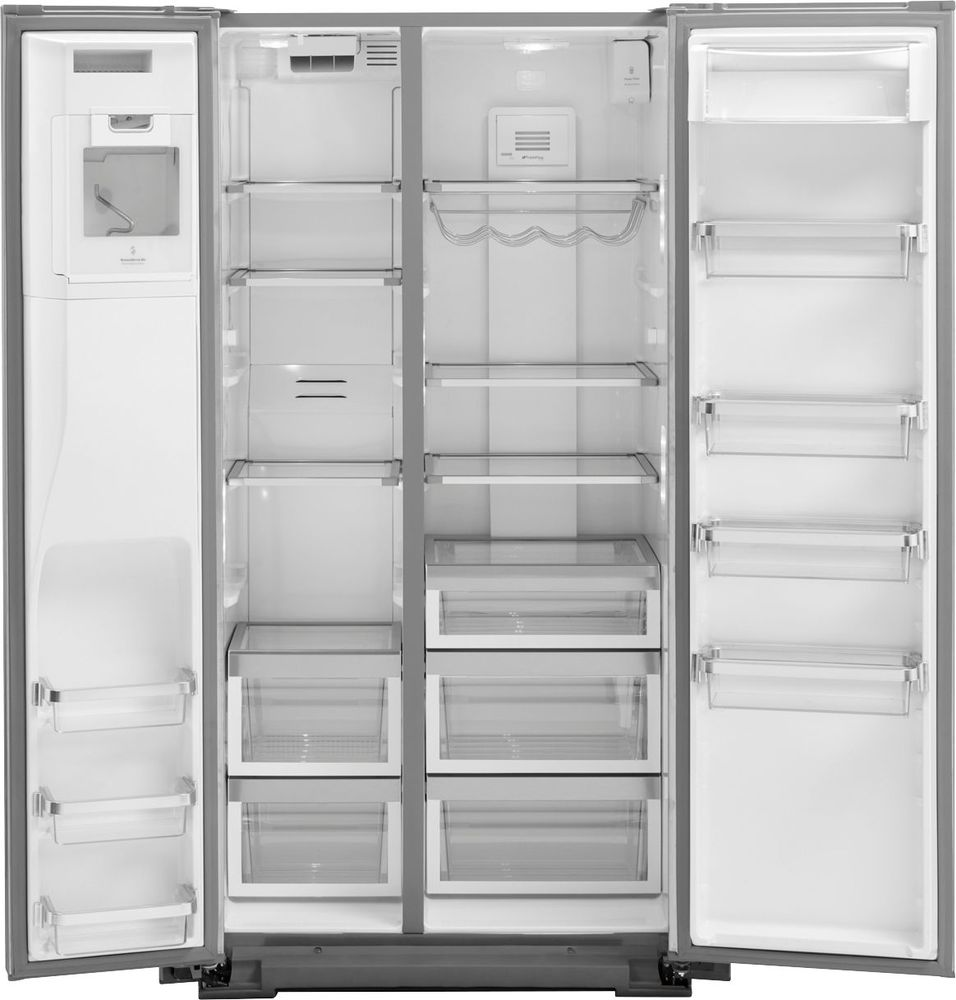 KitchenAid   22.7 Cu. Ft. Side By Side Counter Depth Refrigerator    Monochromatic Stainless Steel At Pacific Sales