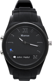 Martian Watches - Notifier Smart Watch for Select Android and Apple® iOS Cell Phones - Black