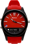 Martian Watches - Notifier Smart Watch for Select Android and Apple® iOS Cell Phones - Red