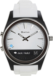 Martian Watches - Notifier Smart Watch for Select Android and Apple® iOS Cell Phones - White