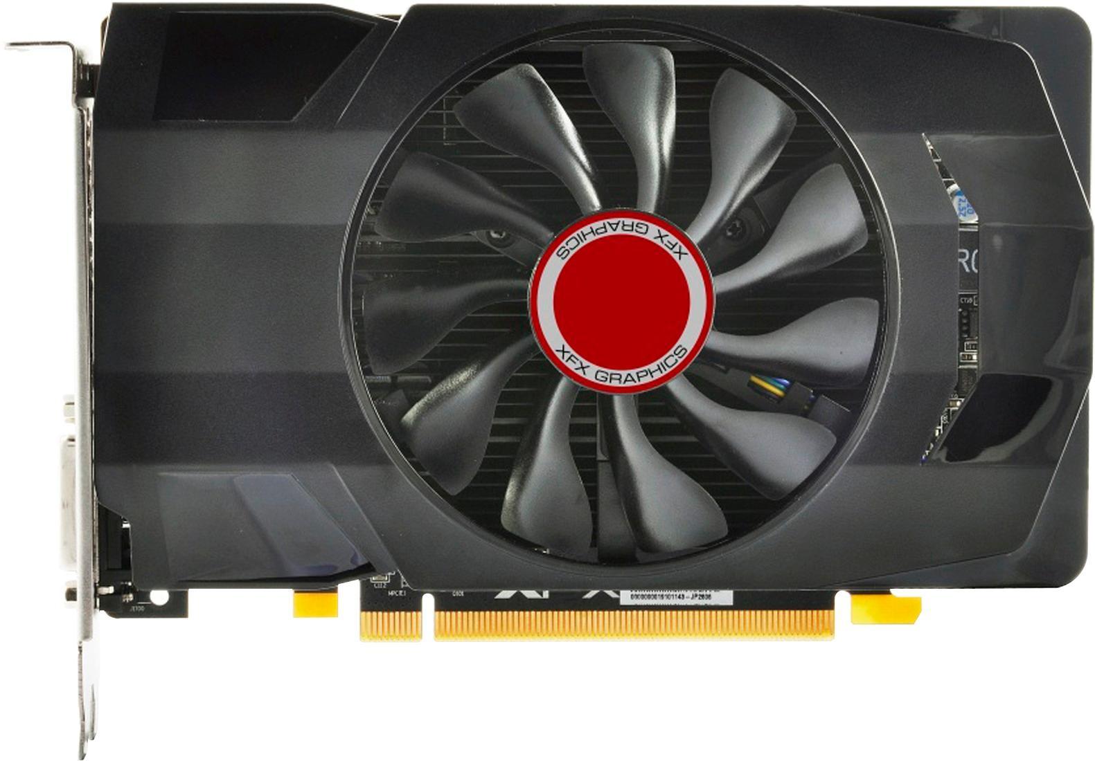 XFX - AMD Radeon RX 560 4GB GDDR5 PCI Express 3.0 Graphics Card - Black 1