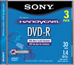Sony - 3-Pack Mini DVD-R Discs with Jewel Cases
