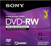 Sony - DVD Rewritable Media - DVD-RW - 2x - 1.40 GB - 3 Pack