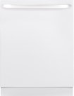 "GE - 24"" Tall Tub Built-In Dishwasher - White-on-White"