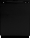 "GE - 24"" Tall Tub Built-In Dishwasher - Black"