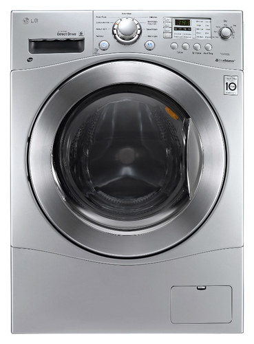LG - 2.3 Cu. Ft. 9-Cycle Washer and 7-Cycle Dryer Electric Combo - Silver