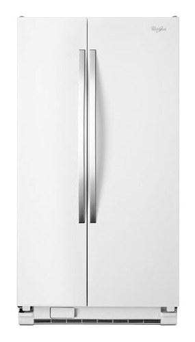 Whirlpool - 25.2 Cu. Ft. Side-by-Side Refrigerator - White Ice