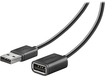 Insignia™ - 12' USB 2.0 A-Male-to-A-Female Extension Cable - Black